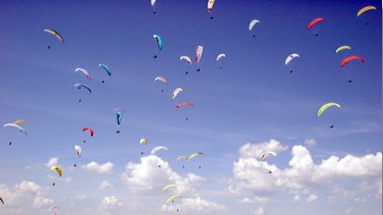 Paragliding School in Derbyshire,Peak District National Park